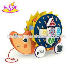 Chegou o novo carro animais de madeira de desenhos animados para crianças com brinquedos de puxar W05b205