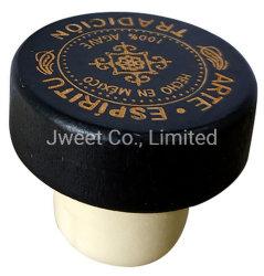 La Chine fournisseur bouchon liège synthétique en bois noir pour les bouteilles