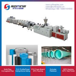 중국 플라스틱 PVC/HDPE/PE PP PPR/CPVC/LDPE 전기 도관/4 캐비티 파이프/도어 기판/프로파일/폼 프레임/판금 돌출 생산 라인