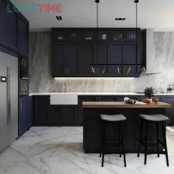China Venta caliente modernos de madera personalizado gabinetes de cocina armario de fábrica directamente