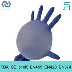 استخدام متعدد المجالات [بودر] حرّة 510K [إن455] [كنتيريل] فحص قفازات قابل للاستعمال مرة واحدة