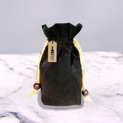 Custom pequeño cordón de terciopelo negro Bolso vino