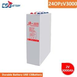 Csbattery 2V3000ah гель для хранения солнечной батареи Opzv щеточная машина/Trolly/Powered-Heater/Nuclear-Power-станции