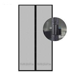 Janela Self-Adhesive bricolage preta de malha de tela na janela Telas invisível cortina líquida com fita anti-mosquito Desmontar fácil de usar