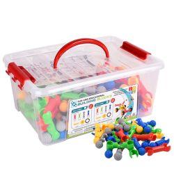 핫 셀링 플라스틱 교육 빌딩 블록 토이즈 3D Creative PP 아이들을 위한 플라스틱 스노플레이크 빌딩 블록