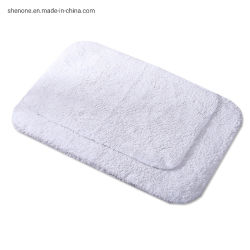 Shenone 100% algodão / Hotel tapete tapetes Logotipo Bordado antiderrapagem de alta qualidade