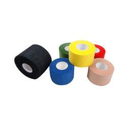 Fita adesiva Sports em tecido de algodão cola à base de látex ou de látex cola livre Com várias cores forte aderência para ataduras rígidas para atletas