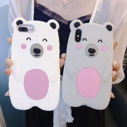 Best Selling Bonitinha Adorkable Urso polar caso Silionce Telefone Celular Capa para iPhone X iPhone 6plus/7e8plus/
