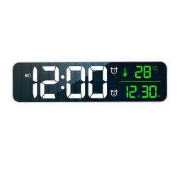 رقم كبير كبير [لد] مرآة [ديجتل] [ولّ كلوك] إلكترونيّة طاولة ساعة مكتب ساعة مع درجة حرارة تقويم جانب سرير