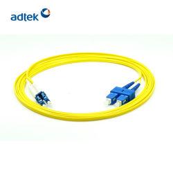 LC à SC de l'UPC UPC en mode unique cordon de raccordement à fibre optique duplex
