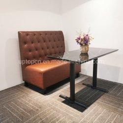 腰掛けのベンチ/ベンチの座席の喫茶店表はセットするカスタム現代ソファーのレストランの家具(SP-KS109)を