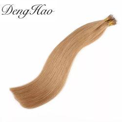 نهاية الجملة سميكة الشعر البكر ريمي البشرية جميع لون نانو تمديدات الشعر الدائرية