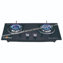 Luxuriöser Gasherd mit Doppelbrenner und Glasplatte (YG-B22097)