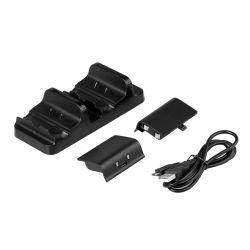 Socle Chargeur charger Dock avec 2 batteries rechargeables de Base Station de recharge pour xBox un X à double contrôleur Accessoires de jeu