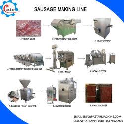 Processus de la viande de la Machine entièrement automatique le salami/jambon Making Machine /saucisse Machine de remplissage de l'enfourneur/ de la saucisse de décisions de la saucisse/Ligne Making Machine