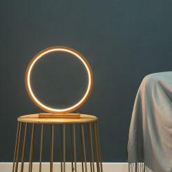 Lampada rotonda di colore di legno di bambù naturale LED