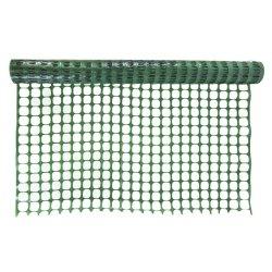 緑色のプラスチック塀の網