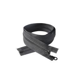 #8 el extremo abierto de cinta de plástico negro con cremallera deslizante de Pipa