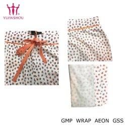 Mulheres Flower-Patterned Tricô Calças de impressão completa