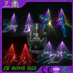 RGB 4W DMX Cabeça Móvel Discoteca DJ a luz do laser