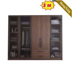 سعر المصنع أثاث حديث بسيط من غرفة النوم بالجملة وخزانة خشبية متينة