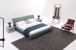 회색 가죽 침대 홈 침실 가구 가죽 킹 퀸 사이즈 조절 가능한 침대 프레임, 심플한 더블