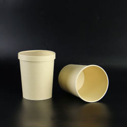 Chino desechables Tazón de Sopa de seguro de microondas con tapa