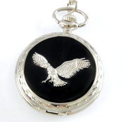 Hersteller-Quarz-Adler-Eulen-Pocket Uhr
