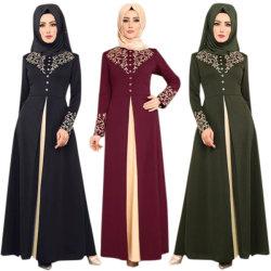 Ramadan Kaftan Dubai Abaya Turquía mujeres musulmanas Hijab vestir Islam Caftan Marocain vestidos Vestidos Eid Mubarak bata Femme abayas