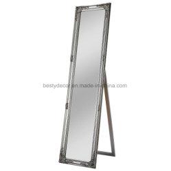 Specchio diritto libero del pavimento del blocco per grafici di legno solido