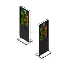 IR 10 points Touch étage Stand de 43 pouces écran LCD tactile interactif avec l'imprimante, lecteur de carte et QR Scanner pour une utilisation en intérieur