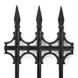 Diseño moderno con recubrimiento de polvo de hierro fundido decorativo Palisade esgrima para casa y jardín