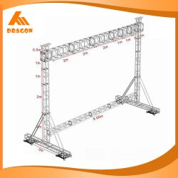 Display a LED Assemblle Truss, Gentry Truss Goal Post Aluminium Truss System per apparecchiature da concerto