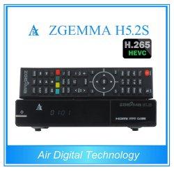 Exclusivement Hevc H. 265/DVB-S2+S2 Twin Tuners H5.2s Zgemma Dual Core Linux OS enigma2 Le récepteur satellite