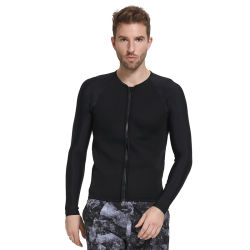 Les hommes la solide noir Couleur personnalisée veste en néoprène 3mm Wetsuit