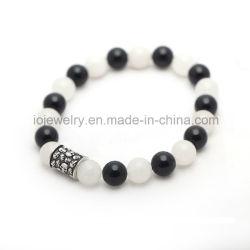 Il marchio europeo del metallo dell'acciaio inossidabile dei monili borda il braccialetto dell'agata