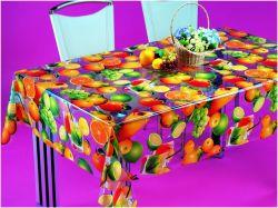 Tablecloth transparente desobstruído impresso do PVC plástico material colorido barato