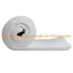 1050 25mm d'épaisseur de la densité commune 96 Kg/m3 en fibre de céramique Couverture de laine pour tuyau isolement, de coton d'isolation haute température