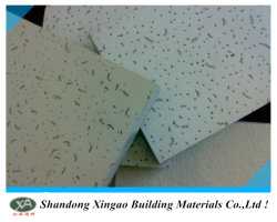 Suspension acoustique anti-affaissement fibre minérale ignifuge Plafond de la Chine en usine