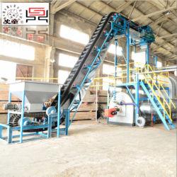 La pyrolyse des déchets entièrement continu pneu usine pour le pétrole et le fil noir de carbone et acier