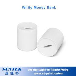 Giocattolo bianco della decorazione della casa del supporto della moneta della Banca dei soldi di sublimazione