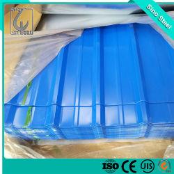 0,13 mm de acero corrugado color prebarnizado hoja techado