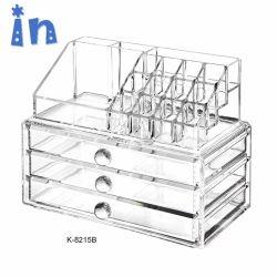 Очистить ящик акрилового волокна составляют организатор косметический окно ювелирные изделия для хранения дела
