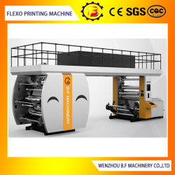 フレキソ印刷高速PLC制御6カラーPE/BOPP/OPP/Paper CIか陶磁器のローラーが付いているFlexoの印字機