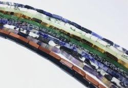 Naturel tube rectangulaire de pierres précieuses Perles d'Agate 4x13mm lâche Strand Mode bijoux en gros en usine