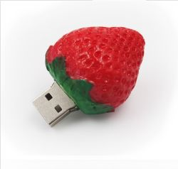 USB Flash Memory على شكل فاكهة ذاكرة 4 جيجابايت USB Stick شكل فراولة محاكاة محرك الأقراص المصغّر