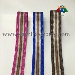 Commerce de gros de couleurs à rayures jacquard sangle Ruban en polyester tissé
