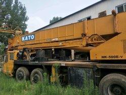 50ton에 의하여 사용되는 Kato Nk-500e-V 트럭 기중기 거친 지형 기중기 양호한 판매