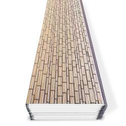 Vorgefertigtes Haus Gebäude Material 16mm feuerfest und wasserdicht im Freien dekorativ Thermisch isoliertes PU-Sandwich 3D Wandverkleidung-Panel-Hersteller