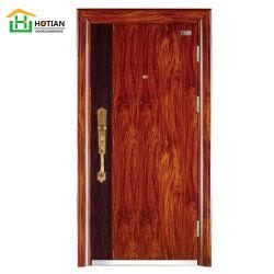 防水主要な前部外部ドアデザイン安全単一の葉のドアの表玄関の写真